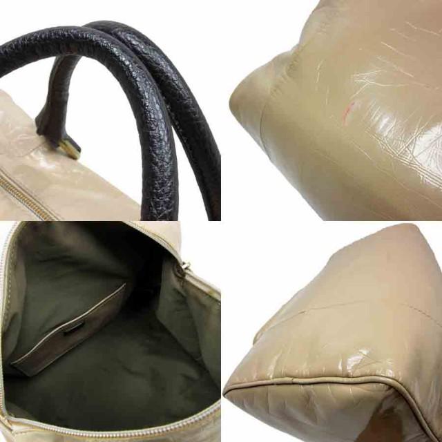 【中古】クロエ ハンドバッグ トートバッグ◆ ロゴ ◆定番人気 ベージ