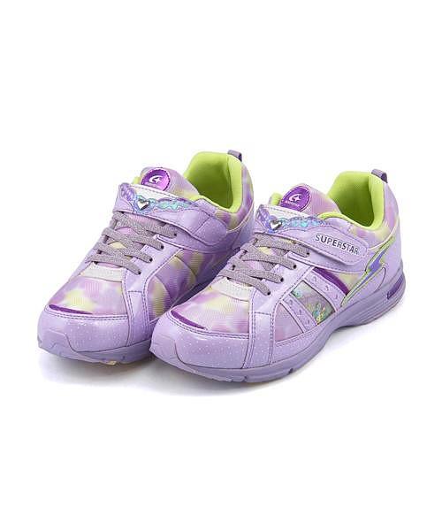 スーパースター バネのチカラ キッズ スニーカー SS 女の子 キッズ 子供靴 EE SUPERSTAR J845  パープルの通販はWowma!(ワウマ) , 靴通販のシューズダイレクト|商品