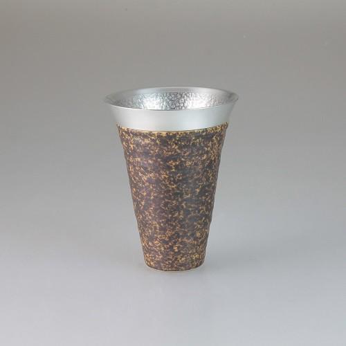 西日本陶器 月光(銅)錫陶フリーカップ