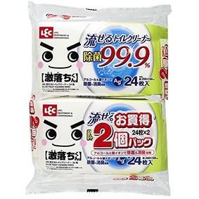 LEC 激落ち 流せる トイレクリーナー 99.9%除菌 (24枚入×2個パック)
