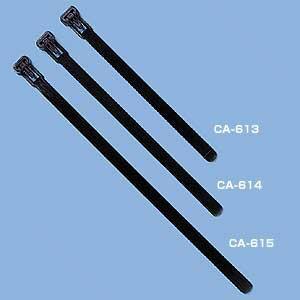 ケーブルタイ結束バンド ワイド 結束しやすい幅広タイプ 25本 収納 10個入り[CA-614]