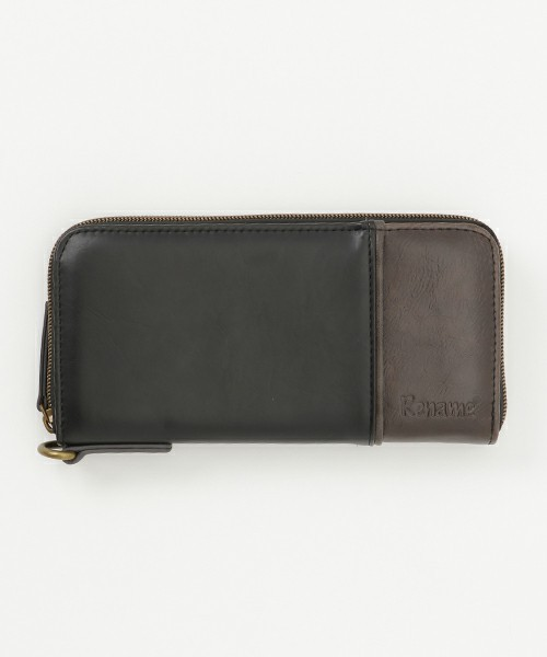 1c628f5b0174 ブラック 黒色 財布 長財布 メンズ レディース ラウンドファスナー PU革レザー さいふ 男性 紳士 ブランド