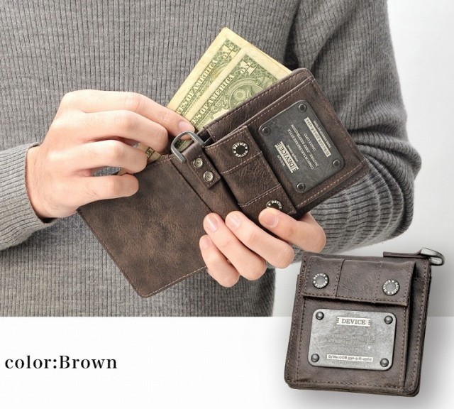 送料無料 折り 財布 レザー ミニ さいふ 二つ折り財布 メンズ レディース 二つ折り 小銭入れ ブラック 黒色 誕生日