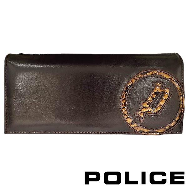【祝開店!大放出セール開催中】 ポリス POLICE ウォレット 財布 メンズ EVEN 長ロング 束入れ ブラウン PA-55503-29, TWINSTAR c4f07889