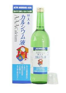 大木 カルシウム液 AAA Calcium 720ml リブ・ラボラトリーズ カルシウム飲料 カルシウムドリンク イオン化製法 健康ドリンク Ca 吸収