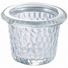 キャンドルホルダー キャンドルグラス ガラス製 ハンマードグラスライトハウス ( 香り キャンドル )