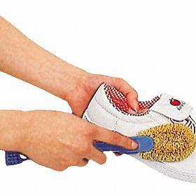 シューズクリーナー 靴ブラシ 子供用シューズクリーナー へら・ミニブラシ付