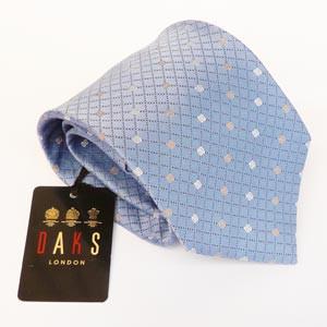 【アウトレット】ダックス(DAKS)ネクタイ 【n120_ブルー系】日本製 アラ商事 シルク100%