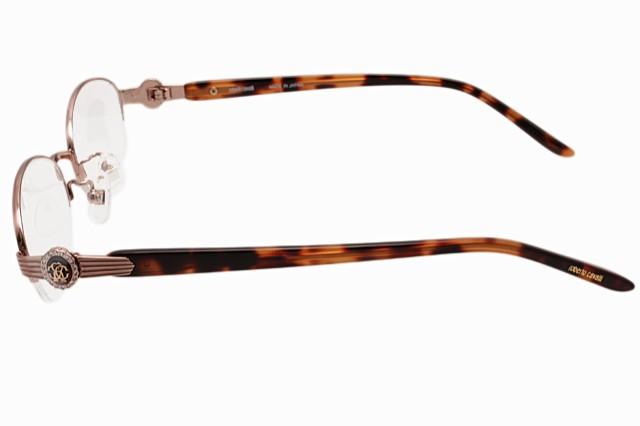 ロベルトカバリ 伊達眼鏡 Roberto Cavalli ロベルトカヴァリ RC0606-1 51サイズ チタン/ハーフリム/ラウンド