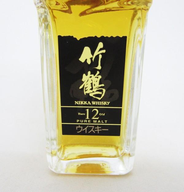 【レトロ:ミニチュア】竹鶴 12年 角瓶 40度 50ml