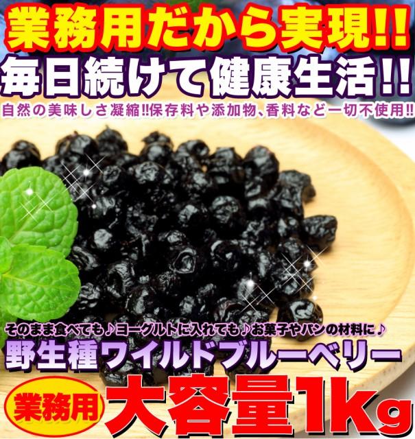 【送料無料】【同梱不可】野生種!ワイルドブルーベリー大容量1kg (SM00010048)