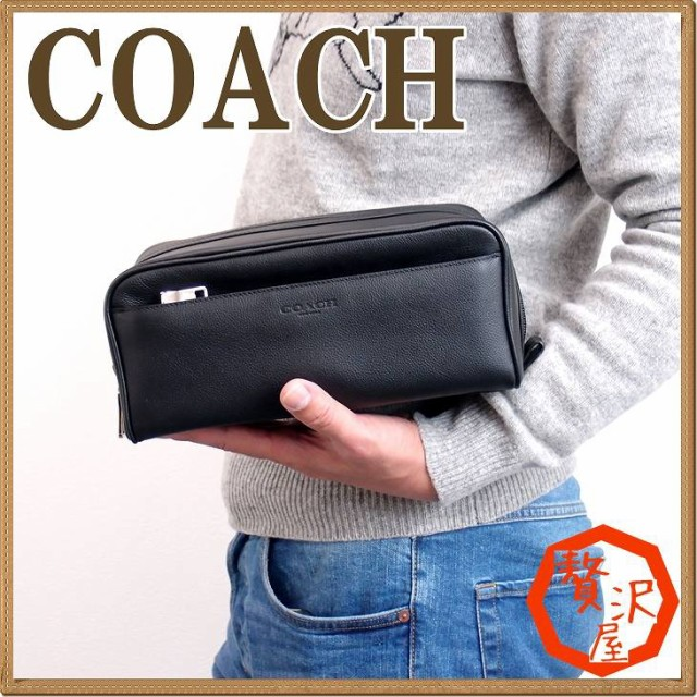 d20759207022 コーチ バッグ メンズ セカンドバッグ COACH クラッチバッグ セカンドポーチ レザー ブランド 58542BLK【tem_b】