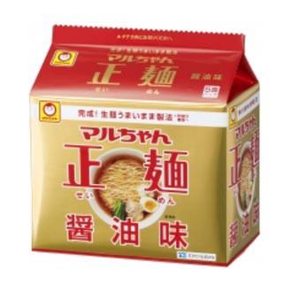 東洋水産 マルちゃん正麺 醤油味 1箱5食入×6袋