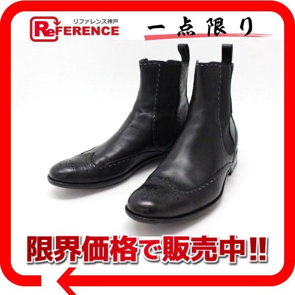 fd5bfea28f6a あす着 BOTTEGAVENETA ボッテガヴェネタ ウィングチップ サイドゴアブーツ 43 ブラック メンズ 靴 黒-その他バッグ ・財布・ファッション小物。