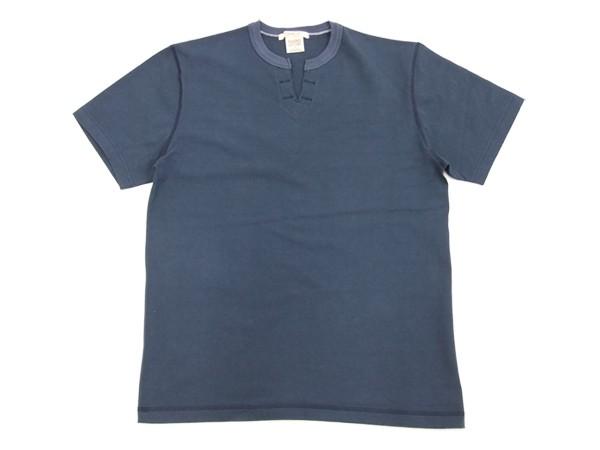 バーンズ アウトフィッターズ BR-8147 スキッパー Tシャツ 無地 吊り編み メンズ 半袖Tee #29ネイビー 新品