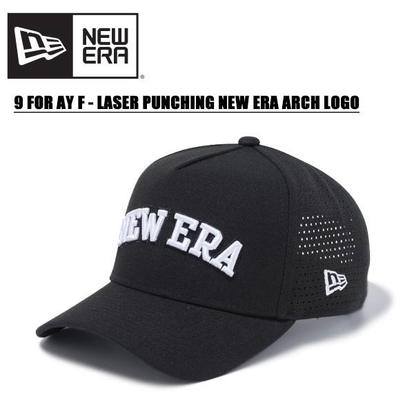 ニュー エラ(NEW ERA) 9FORTY A-Frame レーザーパンチング NEW ERA アーチロゴ 《Black/White》 ゴルフ/キャップ/帽子/男性用/ [BB]
