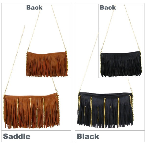 melie bianco Fringe Clutch With Chains メリービアンコ チェーン ショルダーバッグ クラッチバッグ[CC]
