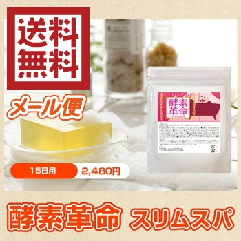 【送料無料】 酵素革命 スリムスパ 300g(約15日分) メール便