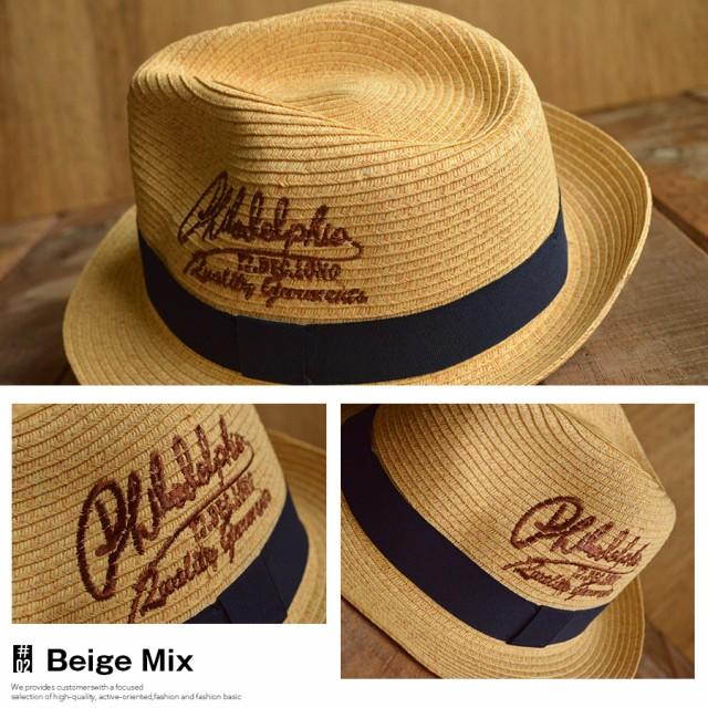 刺繍入り ペーパー中折れハット 帽子 NE39S-25■05160707
