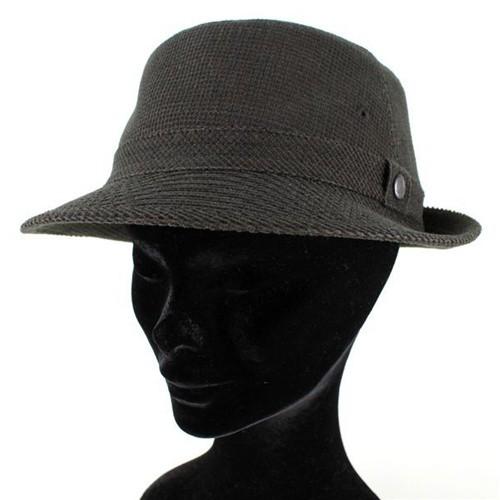 ボルサリーノ 帽子 メンズ 紳士 ハット コーディロイ アルペン型ハット ダークブラウン こげ茶