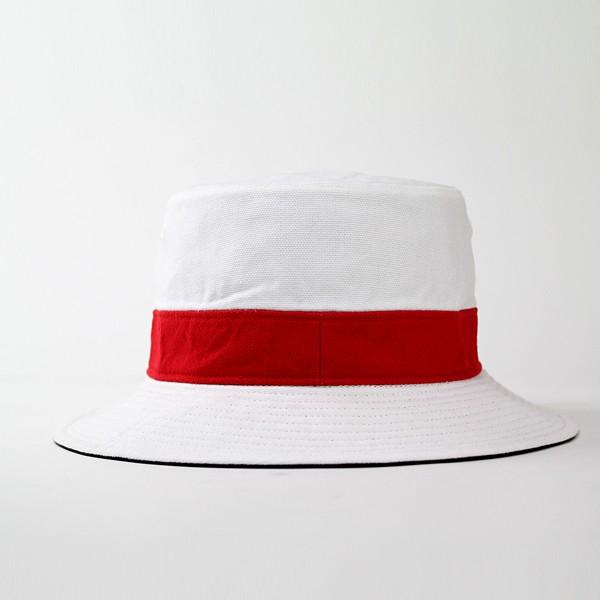 帽子 メンズ 帽子 レディース サファリハット ラコステ ハット リバーシブル 帽子 アウトドア LACOSTE 白 赤 【ブライトレッド】