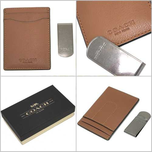 hot sale online 8236d a9164 コーチ マネークリップ COACH アウトレット レザー カードケース ...