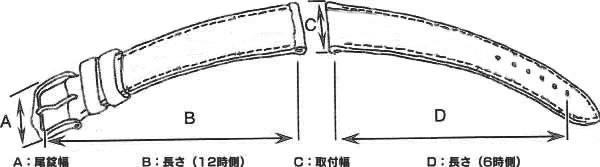 cdf88254e3 本革腕時計バンド カーフヌバックC 腕時計ベルト 腕時計用 替えベルト 牛革バンド カーフ