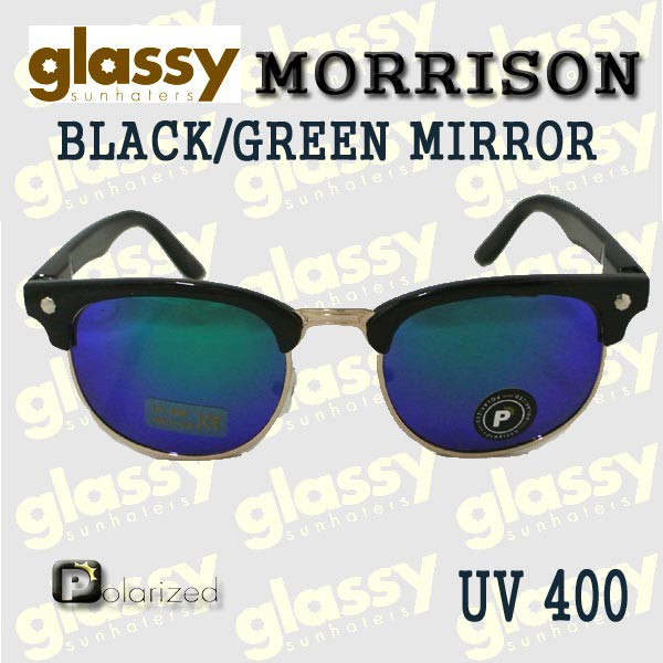 23ed5d7bf1 GLASSY SUNHATERS グラッシーサンヘイターズ サングラス MORRISON POLARIZED BLACK GREEN MIRROR  サングラス EYEWEAR