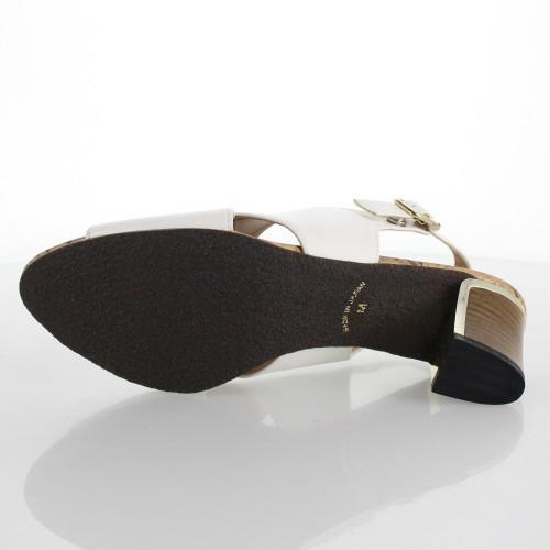 JELLY BEANS ジェリービーンズ 靴 8920 サンダル クロスベルト 太ヒール バックベルト 白 ホワイト レディース