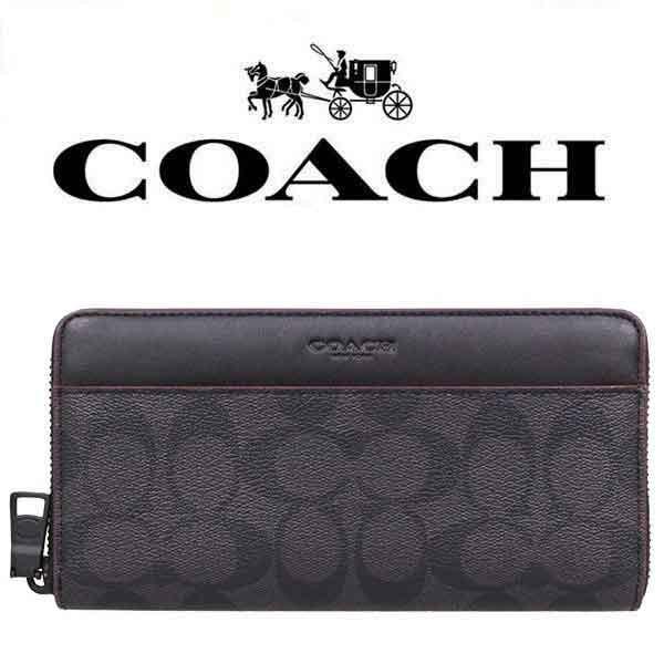 fe6788fd5ca9 【送料無料】F25517 N3A コーチ COACH 財布 長財布 ブラック×ブラックオックスブラッド