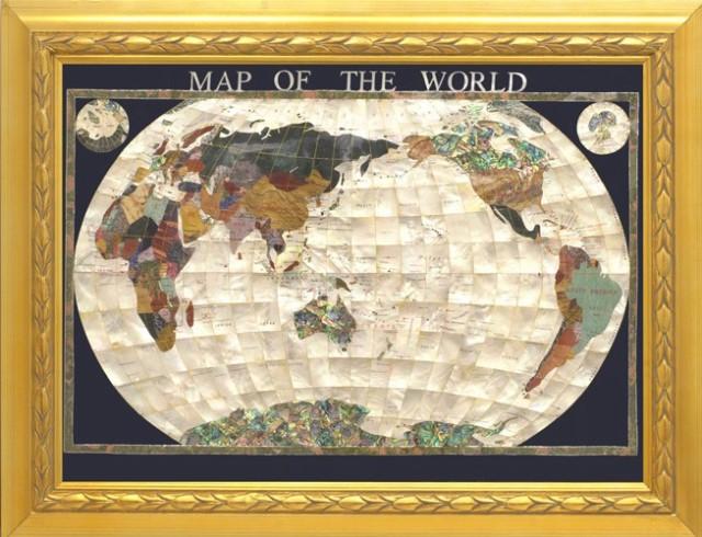 【オープニング 大放出セール】 地球儀 87cmタイプ真珠貝 天然石 地球儀 パワーストーン使用, イカホマチ:049c5970 --- nak-bezirk-wiesbaden.de