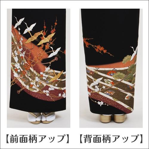 留袖 レンタル 黒留袖フルセットレンタル NT-L744 大きいサイズ 結婚式 往復送料無料