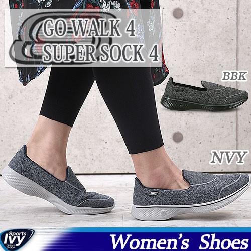 a3cd4759e063 32%OFF スケッチャーズ SKECHERS GOwalk 4 - Super Sock 4 14161-BBK NVY 2017年春夏  新作 スニーカー SALEの通販はWowma!(ワウマ) - sports アイビー 商品ロット ...