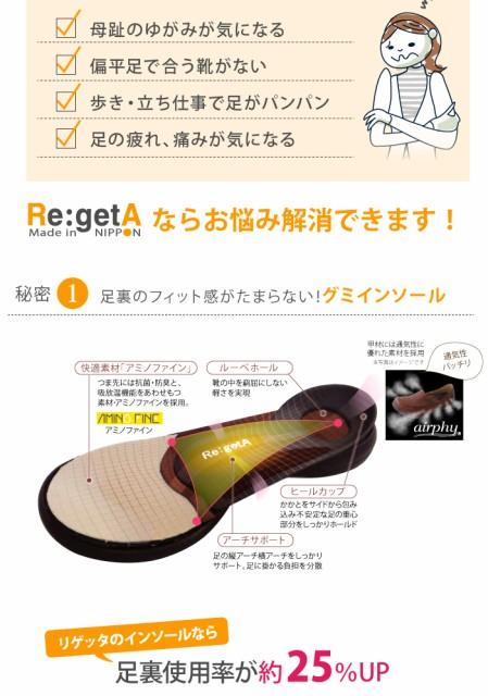 リゲッタ 靴 (ローファー レディース) RegetA ドライビングローファー キャメル M