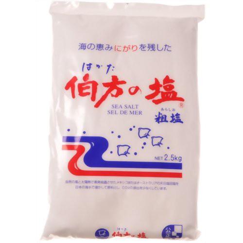 伯方の塩 粗塩 2.5kg