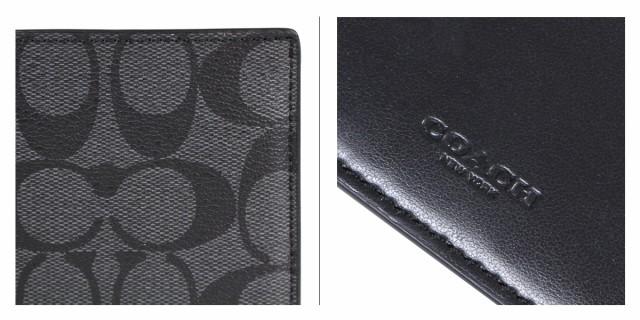 the latest 0b50d 3a4f2 コーチ COACH 財布 二つ折り メンズ レザー F75083 チャコールグレー