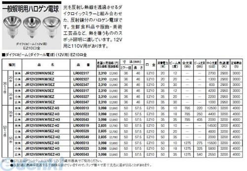 パナソニック電工[JR12V50WKW/5EZ-H2] ダイクール電球 (広角) JR12V50WKW5EZH2