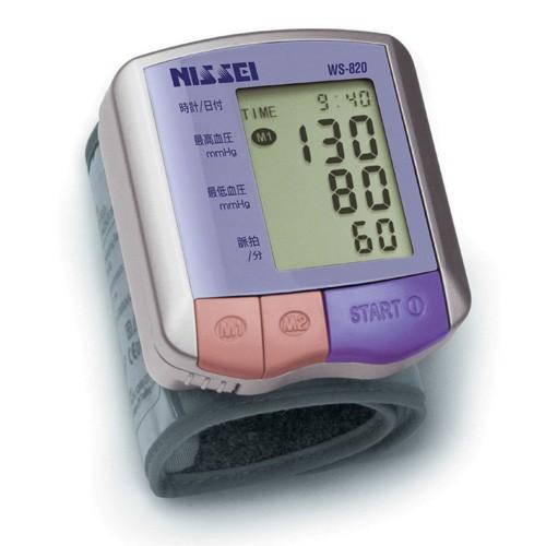 NISSEI ニッセイ コンパクト手首式 デジタル血圧計 WS-820【送料無料】