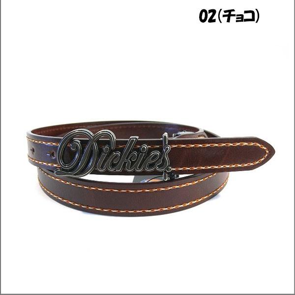 ディッキーズ ベルト Dickies 細ベルト ロゴバックル メンズ レディース ステッチ入り(全5色)