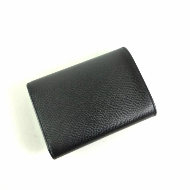 新品 プラダ【PRADA】 サフィアーノ コンパクト 三つ折り 財布 1MH840
