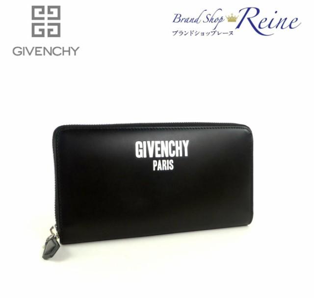 新品 ジバンシィ【GIVENCHY】 ロゴプリント ラウンドファスナー 長財布 BK06040