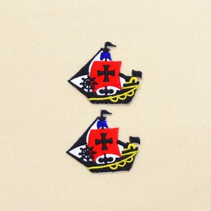 アイロン刺繍ワッペン 海賊船・クロス(2個セット) N6623900