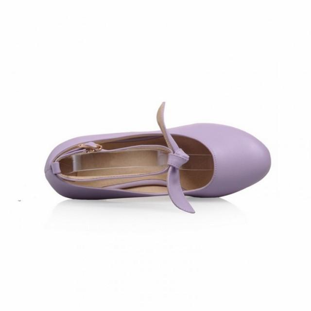 ストラップパンプス ラウンドトゥ ハイヒール ぺたんこ プリンセス 太ヒール 新作 厚底 レディース シューズ 婦人靴 スウィー