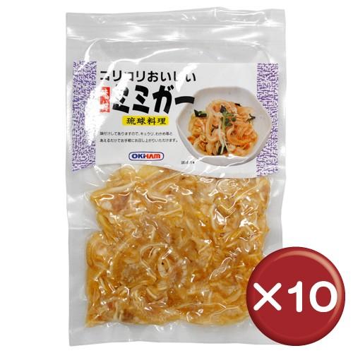 オキハム コリコリおいしい味付ミミガー 80g 10袋セットコラーゲン美容[食べ物>お肉>ミミガー]