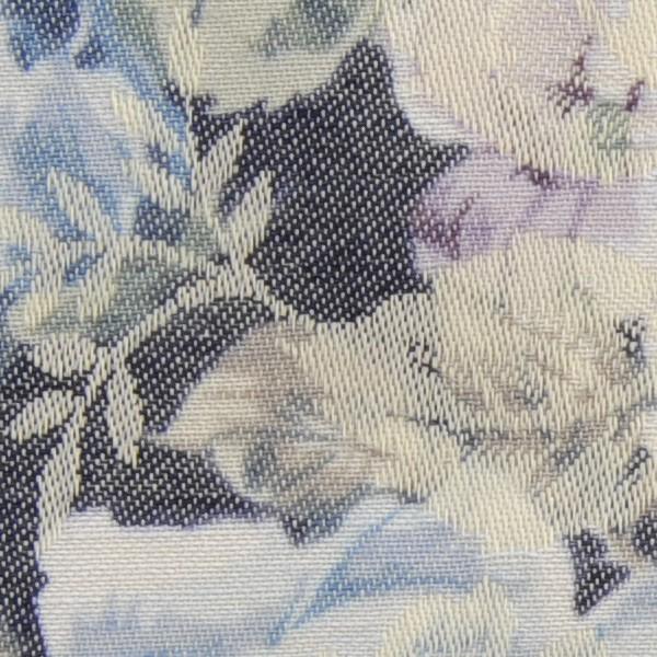 【数量5から】【ユザワヤ限定商品】マンセルコレクション T/Cリネンジャガード ブルー×ネイビー/YUZ-471-5[ユザワヤ×YUWA(有輪商店)