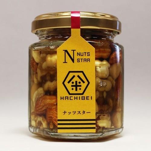 HACHIBEI(八米) ナッツスター はちみつ ハチミツ 蜂蜜 ハチミツ漬け ナッツ アーモンド カシューナッツ くるみ マカダミアナッツ 国