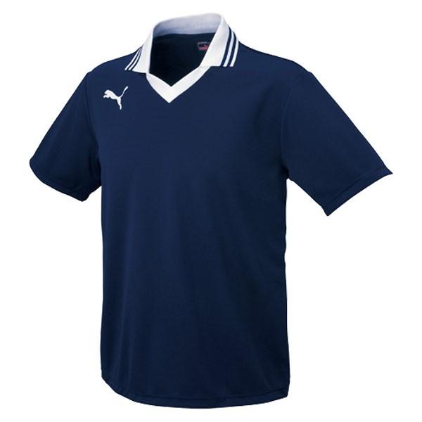 PUMA(プーマ) エリツキ半袖ゲームシャツ01NAVY-WHITE (ユニセックス) ( PAJ-903299-01 )