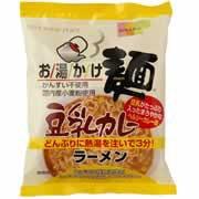 【創健社 お湯かけ麺 豆乳カレーラーメン 79g】