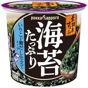 【ポッカサッポロ 素材屋すうぷ 海苔たっぷり いりこと鰹だし仕立てスープ カップ 11.2g×6個】