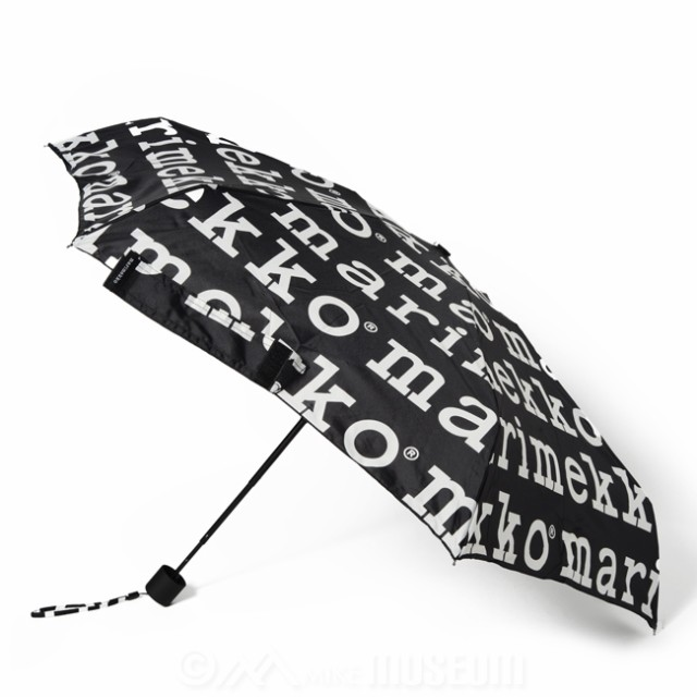 マリメッコ marimekko 折り畳み傘 マリロゴ ミニマニュアル アンブレラ MINI MANUAL UMBRELLA 910/BLACK,WHITE 041399【送料無料】